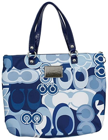 Coach Poppy Pop C Denim Glam Tote