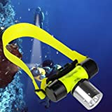 Goldengulf Cree L2 Waterproof Diving Swimming Hiking Camping Hunting Fishing Headlamp Underwater 1200 Lumen Safety Head Light Flashlight (Color: Yellow, Tamaño: Pocket Size)