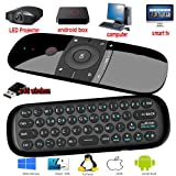 Remote Control with Keyboard,Yongf 2.4G Fly Mouse Mini Wireless Keyboard & Multifunction Portable Remote Control,for Android TV Box/PC/Smart TV/Projector/HTPC/TV (Color: ZUS-G9000)