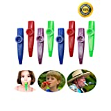 Kazoo Bulk Kazoos Musical Instruments Premium Kazoo Party Pack Favor For Kids With Clear Sound, Non-Toxic Plastic For Children By Anichaa