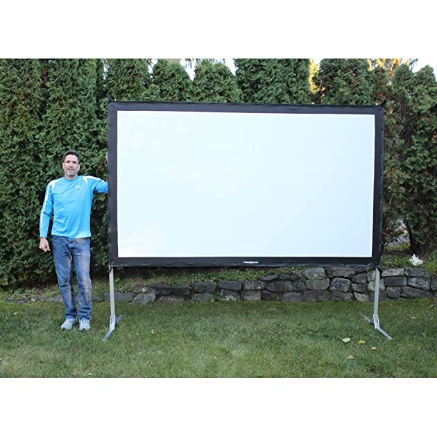Large Portable Movie Screens : Visual apex projectoscreen hd portable movie theater