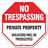 Private Property Sign - No Trespassing Sign - Violators Will Be Prosecuted