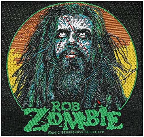 ROB Patch-Zombie ZOMBIE FACE Patch 10 x 9.5 CM, Hard Rock, Heavy Metal by Razamataz