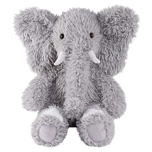 Vermont Teddy Bear Oh So Soft Elephant Stuffed Animals Plush Toy, Gray, 18 (Color: Elephant, Tamaño: 18)