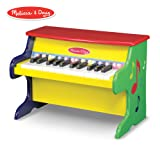 "Melissa & Doug Learn-to-Play Piano, Musical Instruments, Solid Wood Construction, 25 Keys and 2 Full Octaves, 11.5"" H x 9.5"" W x 16"" L (Color: See Item, Tamaño: H: 18.5 x W: 13 x D: 11.5)"