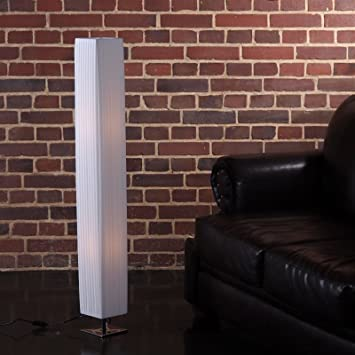 xtradefactory lampe sur pied pied facile 120 cm blanc. Black Bedroom Furniture Sets. Home Design Ideas