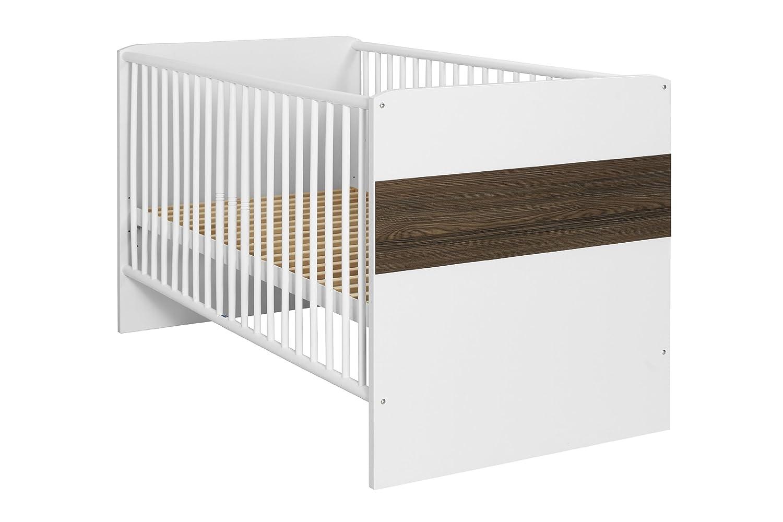 rauch PACK'S Babybett Sprossenbett Tiana alpinweiß/eschefarben (Ausführung: ohne Bettseiten, Option: ohne Rollbettkasten)