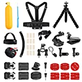 AKASO Outdoor Sports Action Camera Accessories Kit 14 in 1 for AKASO EK7000/ EK7000 Plus/ EK7000 Pro/Brave 4/ V50/ V50 Pro/ V50 Elite/CAMPARK/ Go Pro Hero 5 in Swimming Any Other Outdoor Sports