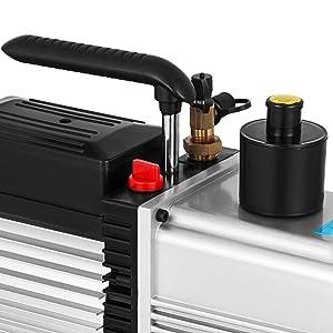 Bestauto Vacuum Pump 12CFM 1HP Vane Vacuum Pump Two Stage HVAC