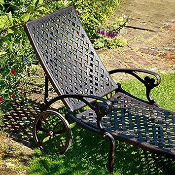 Lazy Susan muebles–Lizzie Metal jardín tumbona