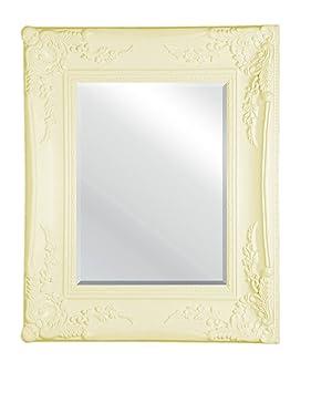 premier housewares miroir miroir orn effet vieilli cr me 55 x 45 45 cm cuisine maison o245. Black Bedroom Furniture Sets. Home Design Ideas