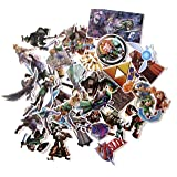 Video Game Themed Legend of Zelda 44 Piece Sticker Decal Set for Kids Adults - Laptop Motorcycle Skateboard Decals (Color: Legend of Zelda, Tamaño: One Size)