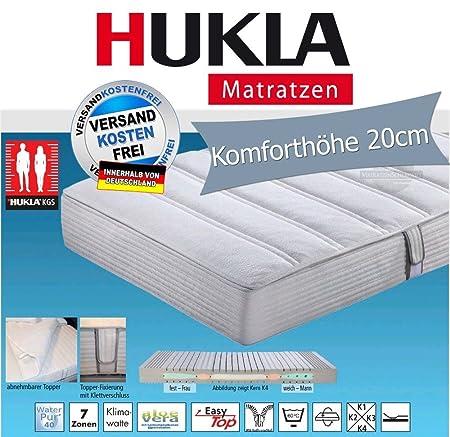 Hukla i night 100 Konfektionsgrößen-Matratze mit Aloe Vera Topper, Größen Matratzen:160 x 200 cm;Härtegrad Matratzen:K2