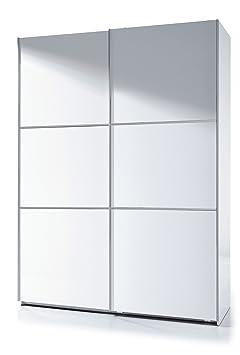 Savona Soft White Gloss Sliding Door Wardrobe 150cm by furniturefactor