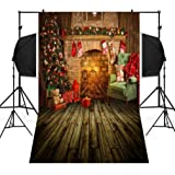 Dirance Christmas Theme Photo Backdrops 3x5ft, Photo Backgrounds for Photo Studio Weddings Party (D) (Color: D, Tamaño: Regular)