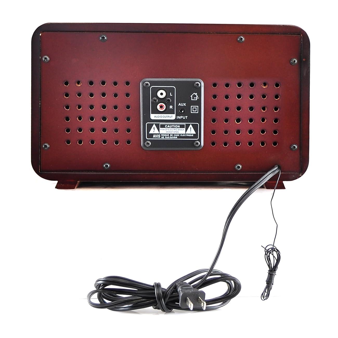Pyle PUNP34BT Vintage Retro Classic Style Bluetooth Radio Sound System, USB/SD Readers, AM/FM Radio 3