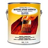 System Three 1850S24 Clear Marine Spar Urethane Varnish Coating, Gloss, 1 gal Can (Color: Gloss, Tamaño: 1 Gallon)