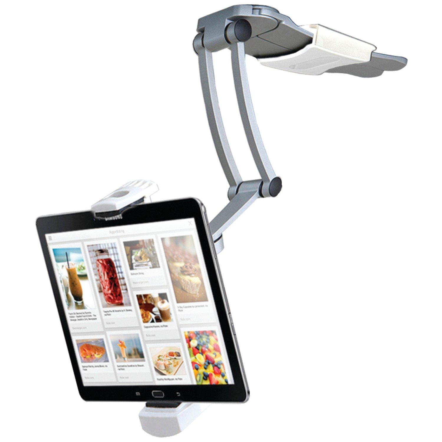 CTA Digital 2-in-1 Kitchen Mount Stand for iPad Air, iPad mini, Surface, & Other 7-12 Inch Tablets (PAD-KMS)
