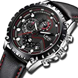 Watches Men Luxury Brand LIGE Waterproof Sport Analog Quartz Watch Mens Fashion Chronograph Black Leather Wristwatch Man Date Clock New