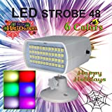 Colorful LED Strobe Flash Light Stage Party Lighting Sound Activated Flash Rate Adjustable for Club Disco Party For DJ Dancing Show Concert Christmas