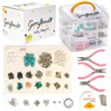 Gemybeads Jewelry Making Supplies Includes Charms, Pliers, Findings, Beads for Bracelets, Earrings, Necklaces, Beading Kit with Instructions EBook, DIY Crafts for Adults, Teenagers & Teen Girls