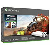 Microsoft Limited Edition White Xbox One X Forza Motorsport 7 and Horizon 4 Bundle: Forza Horizon 4, Forza Motorsport 7, True 4K HDR Xbox One X 1TB Gaming Console with Xbox Wireless Controller