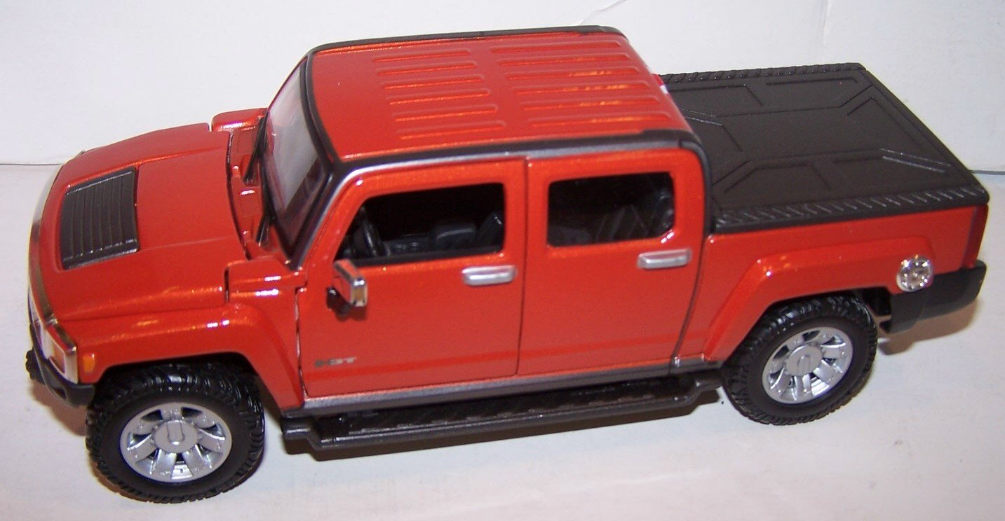 maisto-124-scale-diecast-2009-hummer-h3t-in-color-red