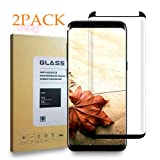 [2-Pack] Galaxy S8 Screen Protector, Tempered Glass Screen Protector [9H Hardness][Anti-Scratch][Anti-Bubble][3D Curved] [High Definition] [Ultra Clear] for Samsung Galaxy S8 Black … B07B6KLK4K