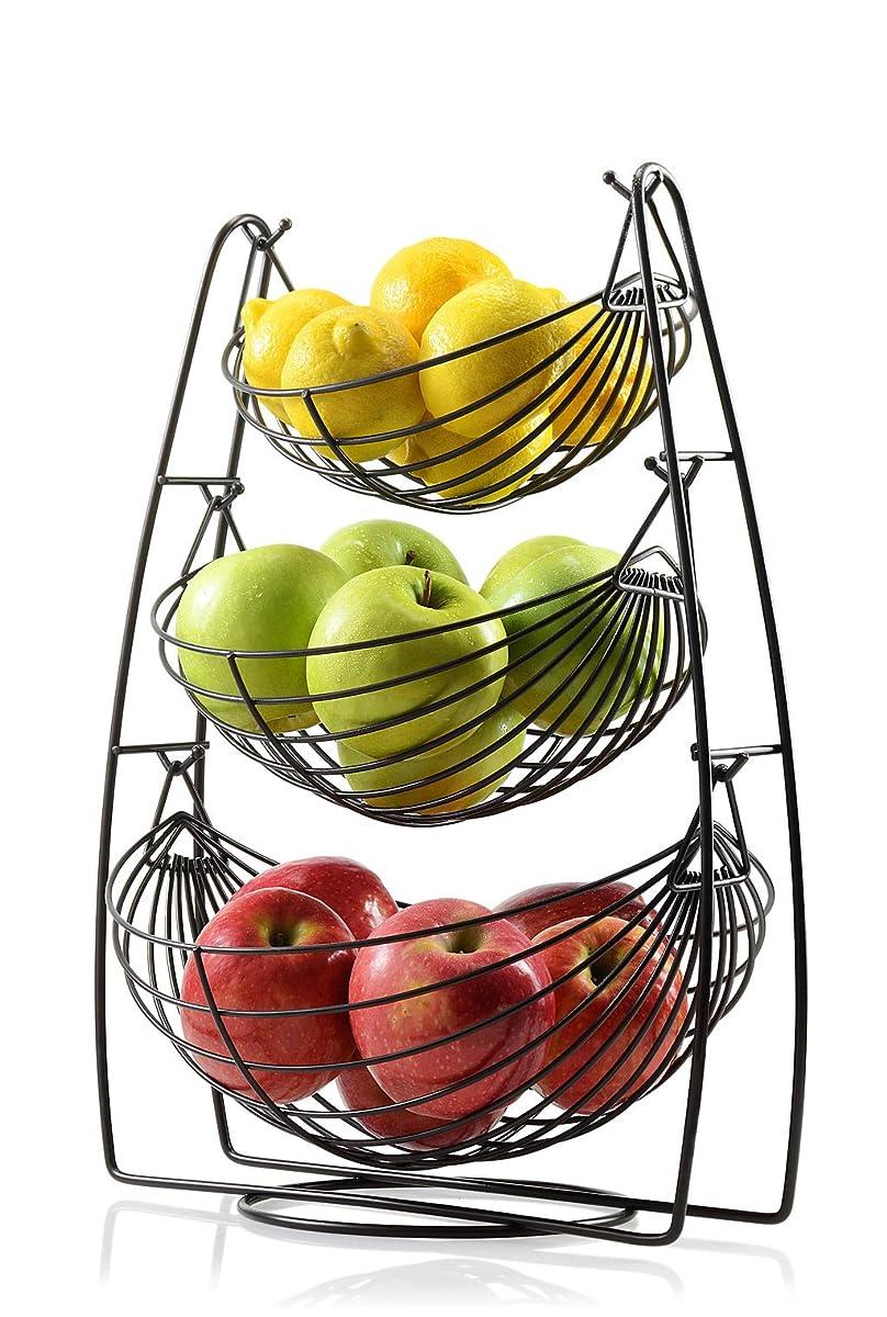 Saganizer Bronze 3 Tier Fruit Baskets Fruit Basket