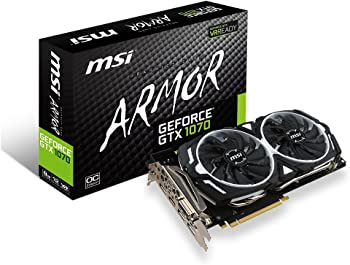MSI GAMING GeForce GTX 1070 8GB GDDR5 Graphics Card