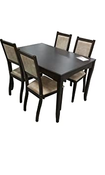 Esszimmer ausziehbarer Tisch komplett mit 4 Stuhlen aus Massivholz - Buch