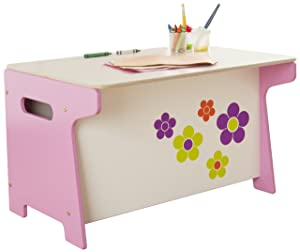 Millhouse Children&'s Flower Toy Box and Desk       Customer review and more information