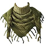 Explore Land 100% Cotton Military Shemagh Tactical Desert Keffiyeh Scarf Wrap (Foliage) (Color: Foliage, Tamaño: One Size)