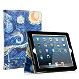 RUBAN iPad 2/3/4 Case Release [Corner Protection]-[Scratch-Resistant] and High-grade PU Leather Folio Stand Smart Cover, Auto Wake/Sleep for Apple iPad 2th/3th/4th Gen with Retina Display,Starry Night (Color: Starry Night, Tamaño: iPad 2/3/4)