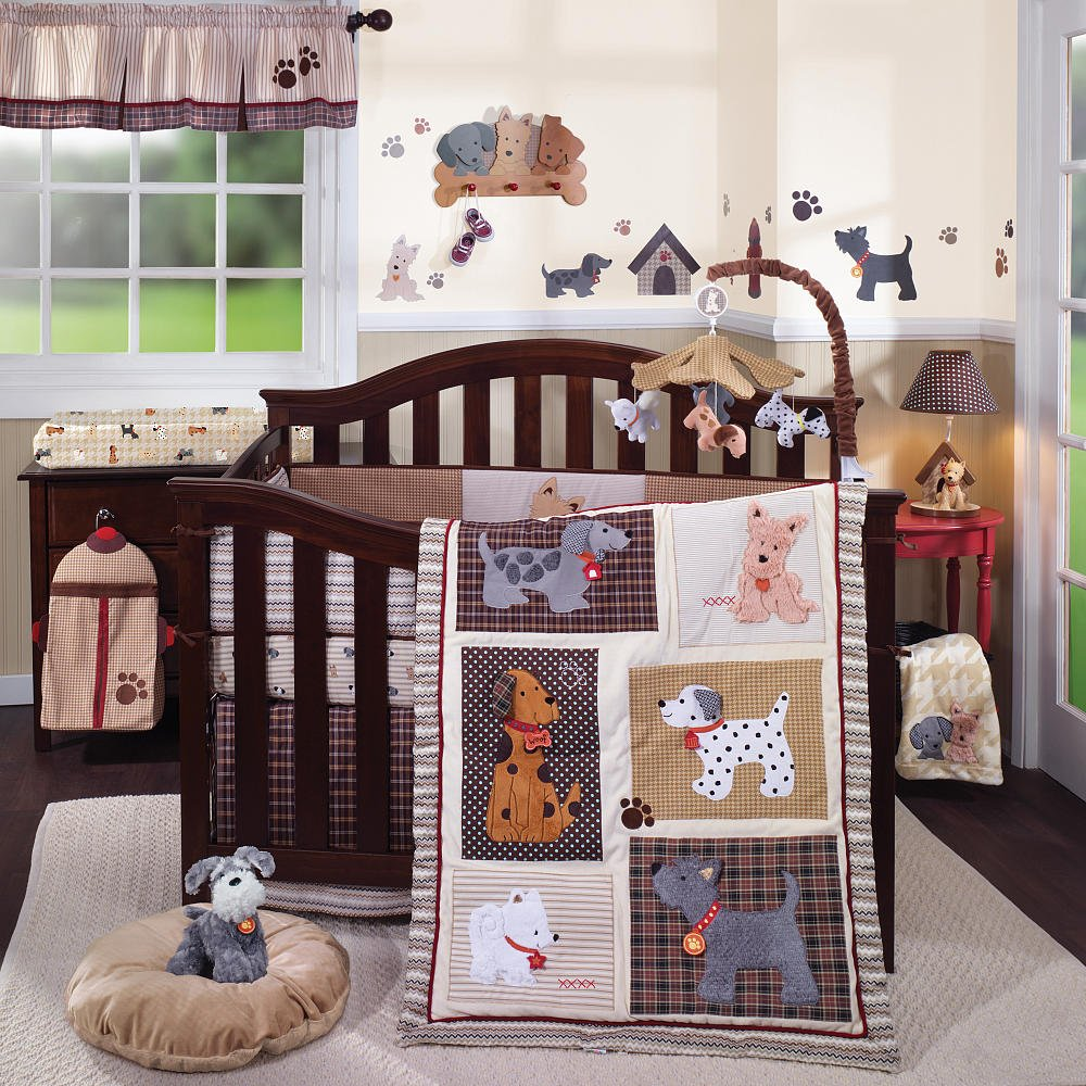 Lambs and Ivy Woof Crib Bedding