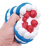 gyoby Jumbo squishies Super Soft Squishy Toys Slow Rising Strawberry ceam Cake Anti Stress Fidget - Stress Reliever Squeeze - Soft and Cute Squishies Toy - Squishy Kawaii (Cream Cake)