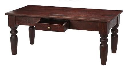Maharani Dark Mango Wood Coffee Table with Drawer