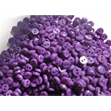 Lyracces Wholesale Lots 1000pcs Mini Small Dot Baby Craft DIY Sewing Fasteners Flatback Resin Buttons 5mm (Purple) (Color: Purple)