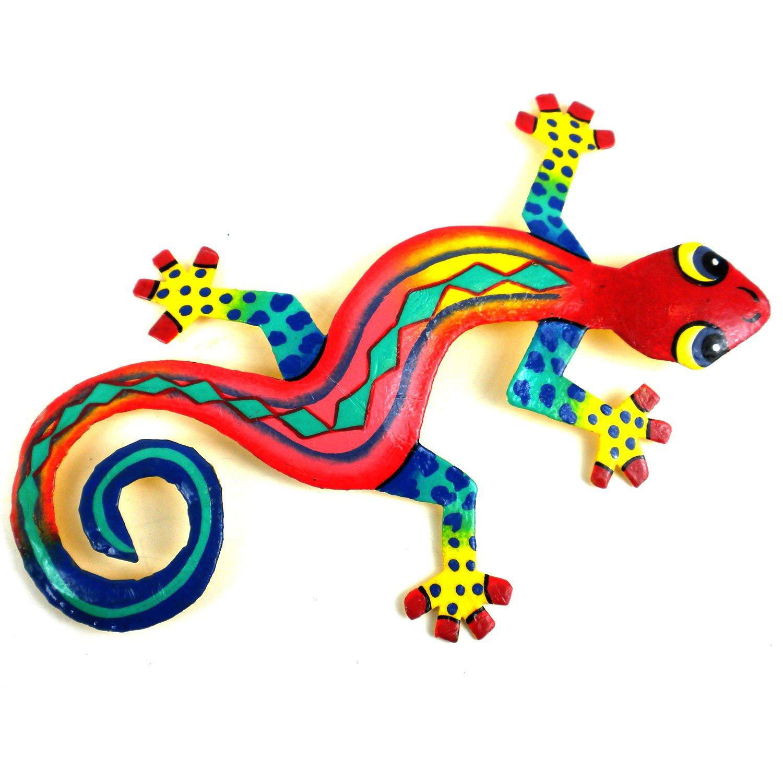 Painted Metal Lizards