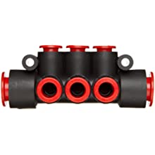 SMC PBT Push-to-Connect Tubing Manifold, Tube OD