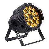 MFL LED Par Light 18x15W RGBW + Amber DJ Lights for Party Nightclub Stage Concert (Color: 1pc, Tamaño: 1)
