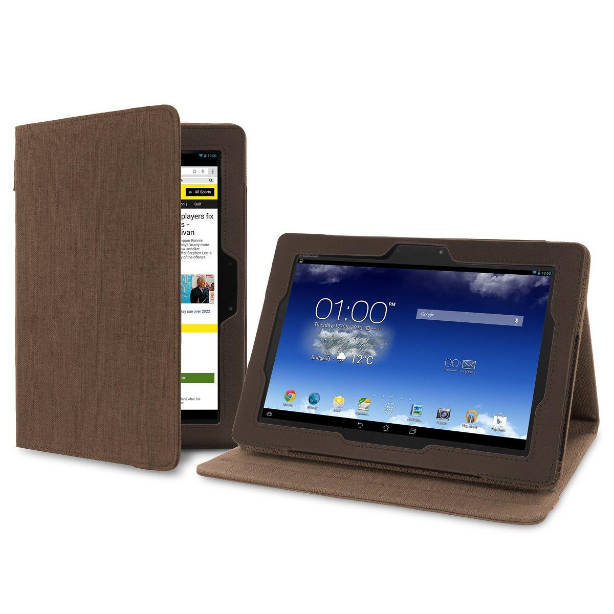 Cover-Up - Funda de cáñamo natural para Asus MeMO Pad FHD 10 (ME302C) (10.1-pulgadas) Tableta (Versión con Soporte) - Marrón Cocoa  Informática Más información y revisión del cliente