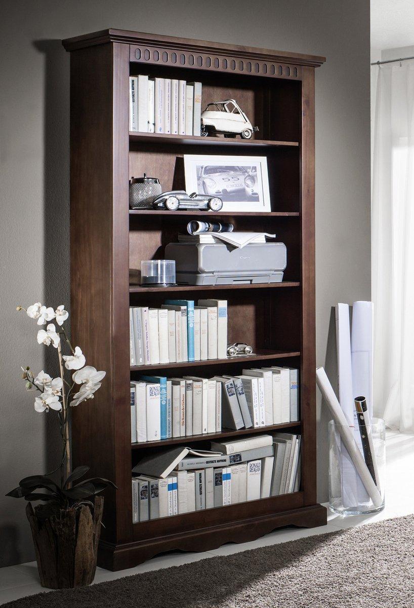 DELHI Regal mit 5 Böden Bücherregal Kolonialstil Massivholz Pinie  Kundenbewertung und Beschreibung