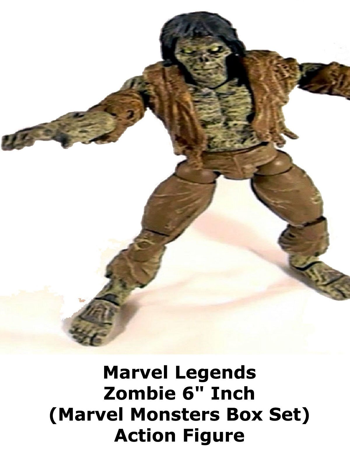 "Review: Marvel Legends Zombie 6"" Inch (Marvel Monsters Box Set) Action Figure"