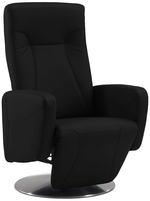 Sino-Living SE-814 Relax- und Ruhesessel in Dickleder, schwarz mit motorischer Verstellung inklusive Aufstehhilfe