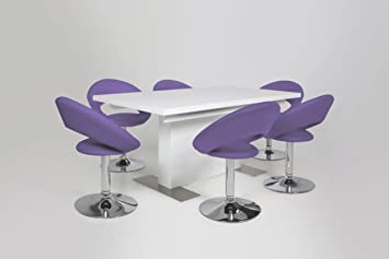 Ac design furniture 48709 esszimmerstuhl 2 er set thilde for Design esszimmerstuhl drehbar