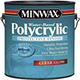 Minwax 15555 Polycrylic Water-Based Protective Clear Finish Gloss, 1-Gallon (Color: Clear)