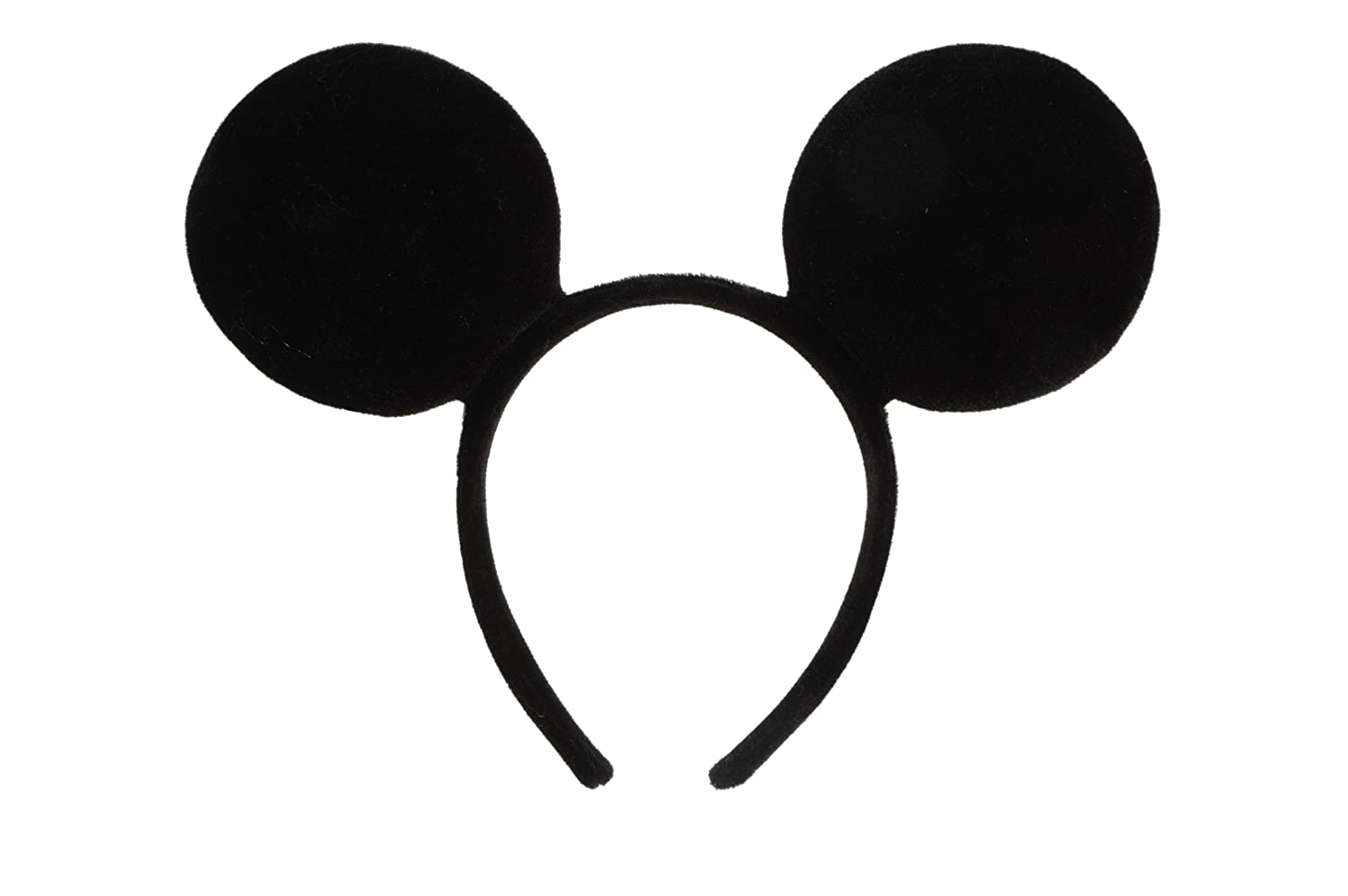 The Ears: We cut the ears out of black felt using a Mickey Ears Template that we found on the Disney website. You need two cut-outs for each set of ears. You need two cut-outs for each set of ears. But please note, we increased the overall size of this template by about 1/2″.