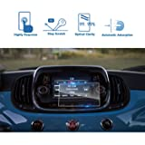 LFOTPP 2016-2018 FIAT 500X UConnect 5 Inch Car Navigation Screen Protector, [9H] Tempered Glass Infotainment Center Touch Screen Protector Anti Scratch High Clarity (Color: 2016-2018 FIAT 500X UConnect 5 Inch)