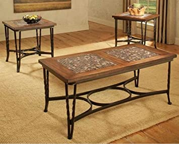 3-Pc Coffee Table in Mosaic Finish